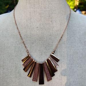 Rose gold glitter carolee necklace